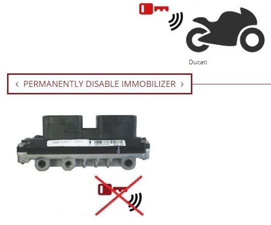 Ducati ECU Permanently Disable Immobilizer